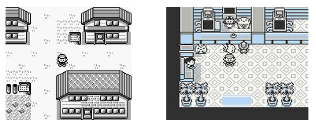 Exemple dans Pokemon (1996, GameBoy)