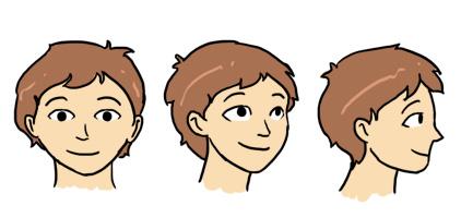 Dessiner les visages et les t tes - Visage profil dessin ...