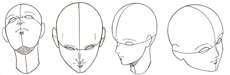 Extrêmement Dessiner les visages et les têtes WH74