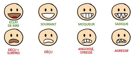 Les expressions du visage for Interieur de la bouche
